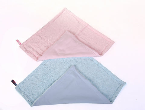 Soft, Fluffy Baby Blanket In Pink Or Blue - Little Lumps