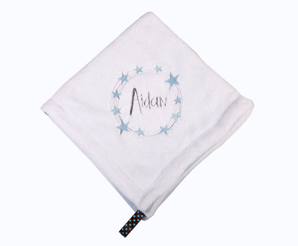 Personalised Blanket with Star Circle embroidery - Little Lumps Baby Clothing Online