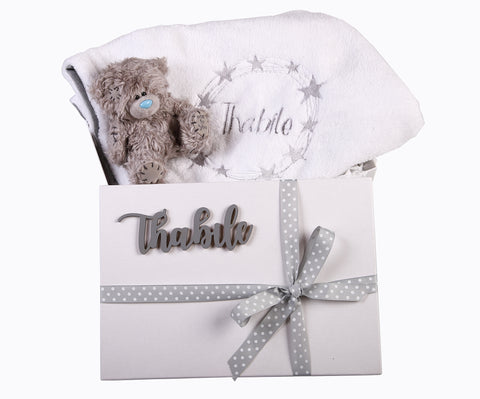 Baby Gift Set 1- Personalised Blanket & Toy - Little Lumps