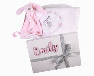 Gift Set 1- Personalised Blanket & Toy - Little Lumps Baby Clothing Online