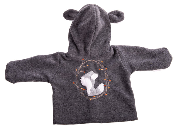 Grey Baby Fox Polar Jacket - Little Lumps