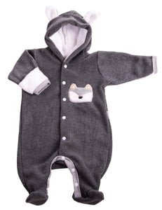 Grey Polar Baby Snowsuit - Little Lumps