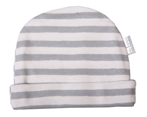 Beanie - Grey Stripe - Little Lumps Baby Clothing Online