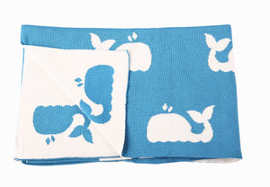 Blanket - Whales - Little Lumps Baby Clothing Online