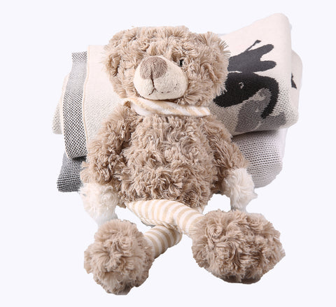 Toy - Teddy with stripey legs - Little Lumps