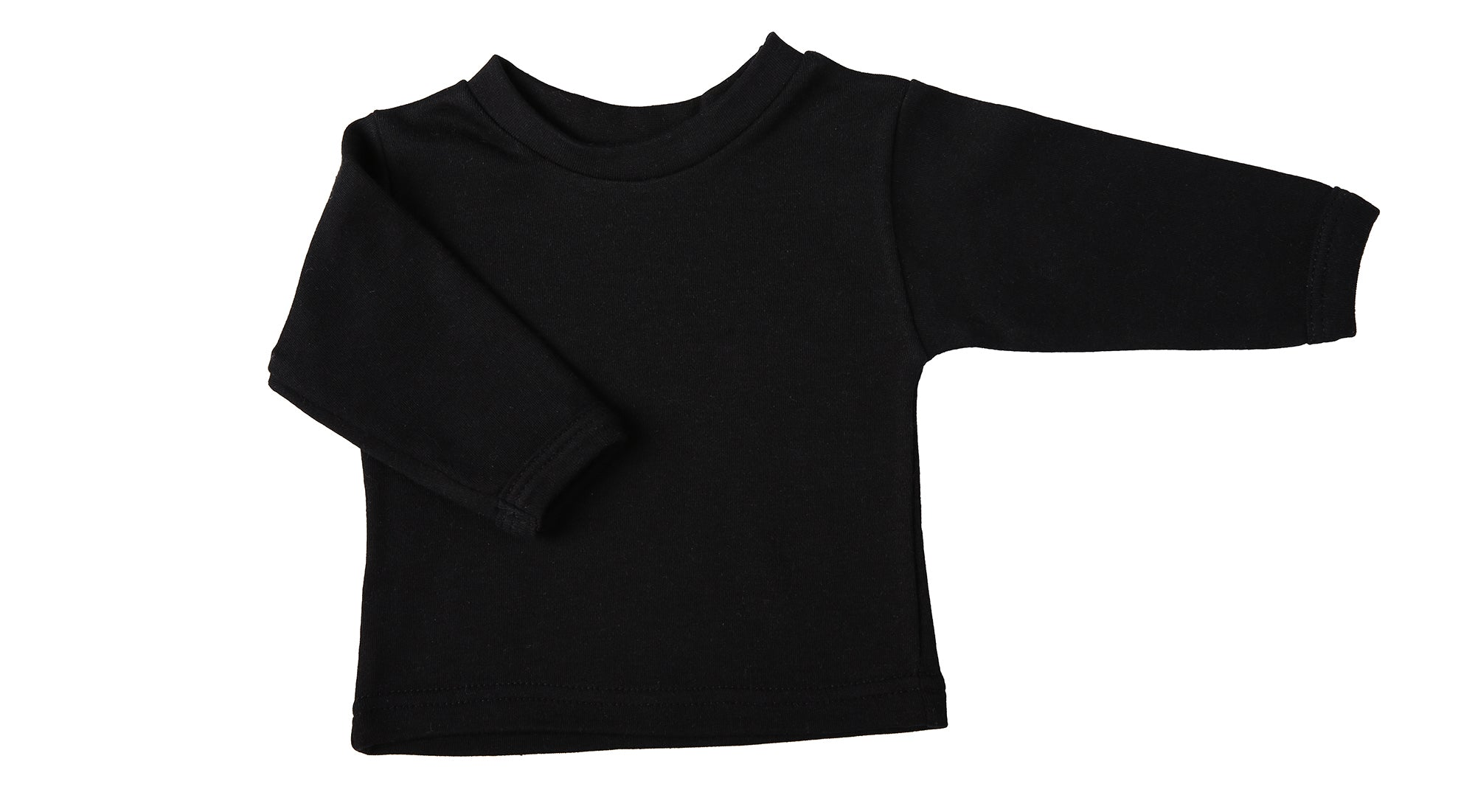 Blank Long-Sleeved Baby Crew Neck T-Shirts (6-Pack) - Little Lumps