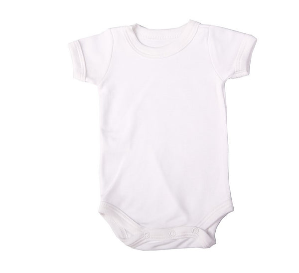 6-Pack Baby Blank Short-Sleeved Crew Neck Onesies 100% Cotton - Little Lumps