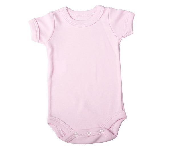 6-Pack Baby Blank Short-Sleeved Crew Neck Onesies 100% Cotton - Little Lumps Baby Clothing Online