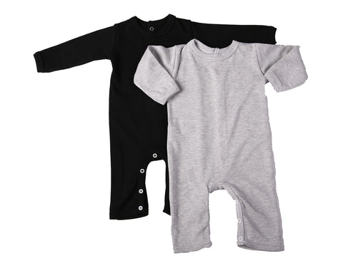 Baby Blanks - Footless Babygro with back opening ( 2 pack or 6 pack)