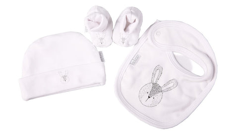 Bunny Bib, Shoes & Hat set - Little Lumps Baby Clothing Online