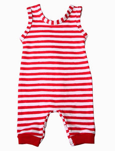 Christmas - Baby Stripey Romper - Little Lumps