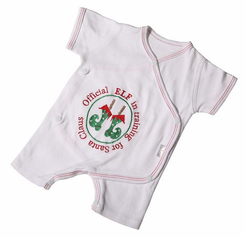 Christmas - Santa's Elf Babygro - Little Lumps Baby Clothing Online