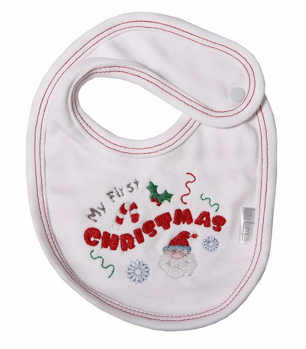 My 1st Christmas Baby Bib - Little Lumps