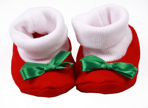 Baby Ribbed Bow Shoes - Little Lumps
