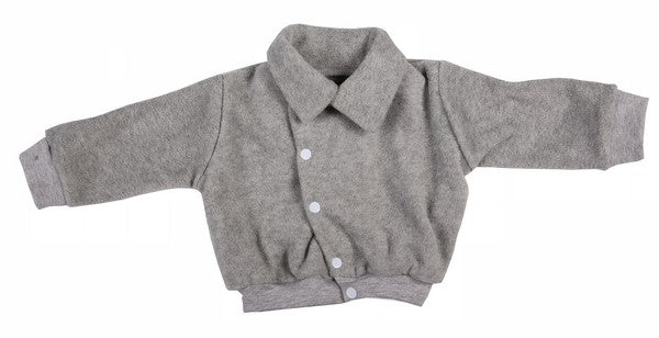 Grey Polar Fleece Baby Aviator Jacket - Little Lumps Baby Clothing Online