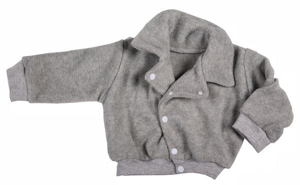 Grey Polar Fleece Baby Aviator Jacket - Little Lumps