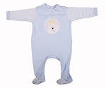 Load image into Gallery viewer, Embroidered Bear Babygro In Blue Or Pink - Little Lumps