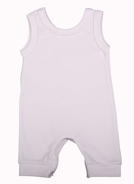 100% 2-Pack Cotton Blank Sleeveless Baby Rompers In Mixed Colours - Little Lumps