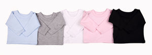 Blank Baby T-Shirts With Raglan Sleeves – 2 Pack mixed colours - Little Lumps Baby Clothing Online