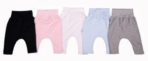 2-Pack Mixed Colours Blank Baby Footless Leggings - Little Lumps