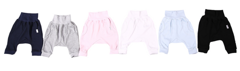 Harem-Style Baby Slouch Pants 100% cotton - Little Lumps