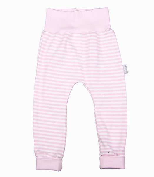 Long-Sleeved Baby Top And Leggings Set In Pink - Little Lumps