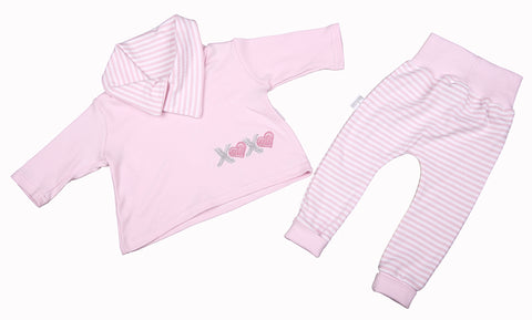 Long-Sleeved Baby Top And Leggings Set In Pink - Little Lumps Baby Clothing Online