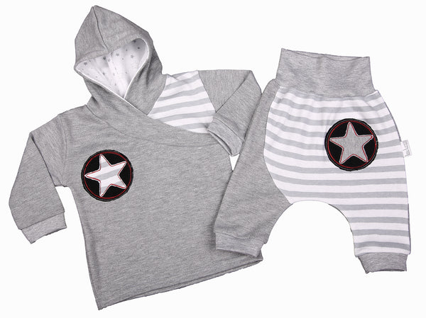 Stripe And Star Baby Tracksuit - Little Lumps