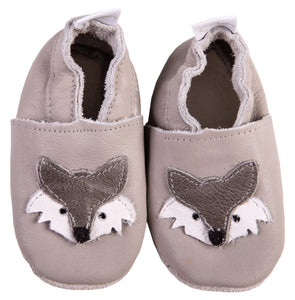 Shoes- Grey Fox Leather - Little Lumps
