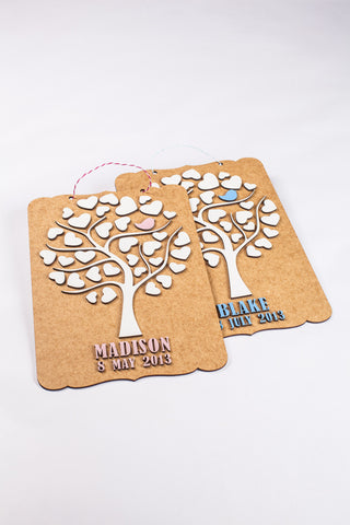 Personalised Baby Milestone Tree - Little Lumps Baby Clothing Online