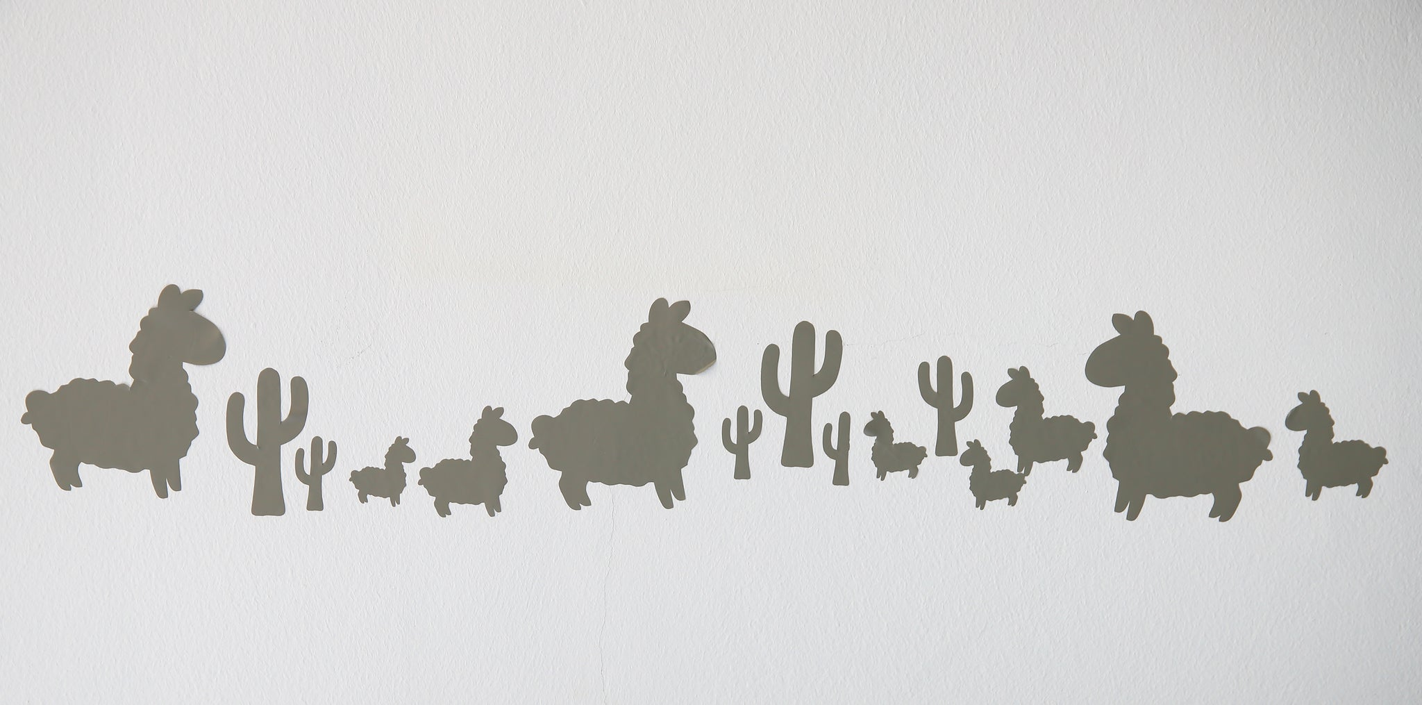 Vinyl Wall Stickers - Llama & Cactus - Little Lumps