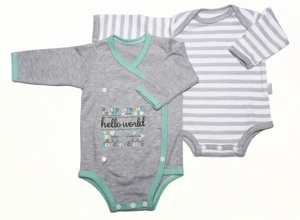 Hello World 2-Pack Baby Onesie Set - Little Lumps Baby Clothing Online