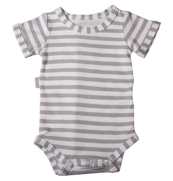 Onesie - Grey Striped - Little Lumps Baby Clothing Online