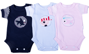 Nautical Short Sleeved Baby Onesie - Little Lumps