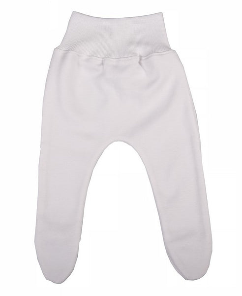 Soft White Cotton Baby Leggings - Little Lumps