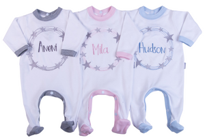 Personalised Embroidered Babygro - Little Lumps