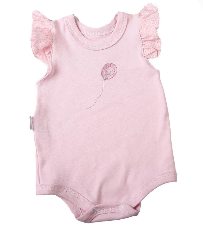 Pink Frilled Sleeve Baby Onesie - Little Lumps