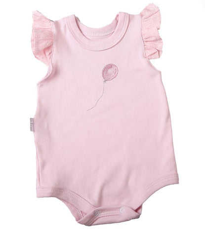 Pink Frilled Sleeve Onesie - Little Lumps Baby Clothing Online