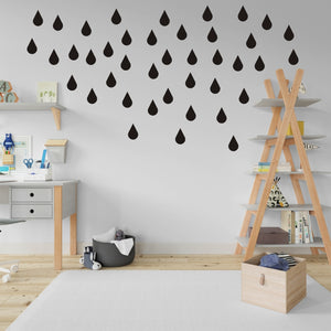 Vinyl Wall Stickers - Raindrops