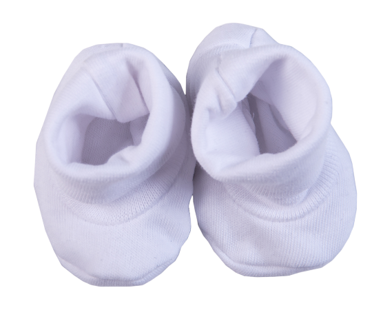 2-Pack Blank Ribbed Shoes Made From 100% Cotton - Little Lumps