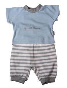 Striped Short Set - Blue - Little Lumps Baby Clothing Online
