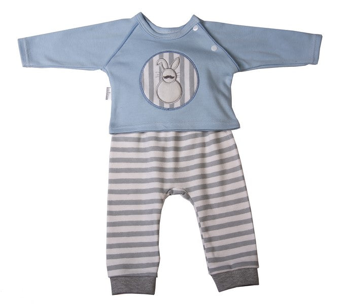 Blue Raglan Bunny top & Sweatpants set