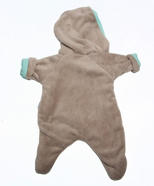 Snowsuit-Aqua lining - Little Lumps Baby Clothing Online