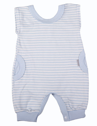 Blue Striped Baby Romper - Little Lumps