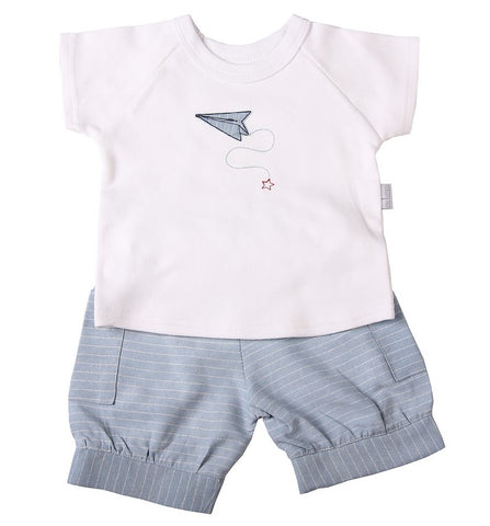 Baby Cuffed Shorts & Raglan T- shirt - Little Lumps