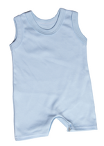Load image into Gallery viewer, 100% 2-Pack Cotton Blank Sleeveless Short Baby Rompers In Mixed Colours