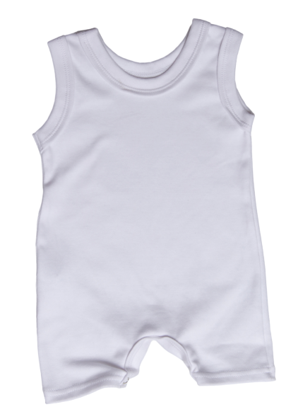 100% 2-Pack Cotton Blank Sleeveless Short Baby Rompers In Mixed Colours