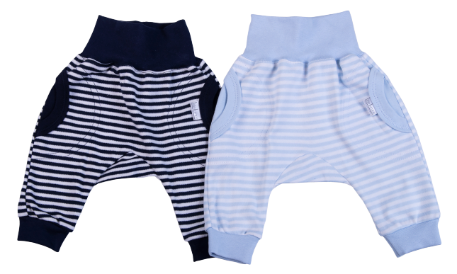 Striped Baby Slouch Pants - Little Lumps