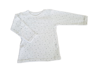Baby T-Shirt - Crew neck with grey stars