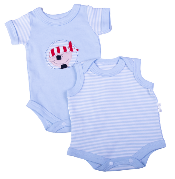 Nautical 2Pk Baby Onesie set - Little Lumps